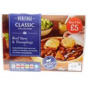 Heritage Beef Stew and Dumplings