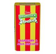 Swizzels Drumstick Squashies Tin of Raspberry and Milk Biscuits