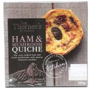 Jon Thorners Ham and Mushroom Quiche (Small)