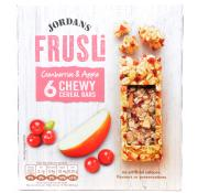 Jordans Frusli Cranberries and Apple Chewy Cereal Bars