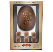 Baileys Infused Milk Chocolate Egg with Baileys and Coffee Shimmered Chocolates
