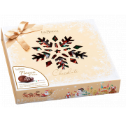 La Suissa Milk Chocolates with Gianduja Cream and Crisp Rice Centres Snowflake Box