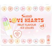 Love Hearts Fruit Flavoured Ice Lollies
