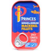 Princes Mackerel Fill Spicy Tomato Sauce
