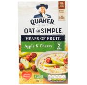 Quaker Oat So Simple Heaps of Fruit  Apple and Cherry