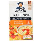 Quaker Oat So Simple Heaps of Fruit Banana and Strawberry