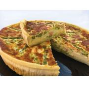 Dike's Kitchen Salmon and Asparagus Quiche