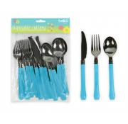 Bello 12 Piece Disposable Cutlery Blue