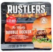 Rustlers Double Decker Cheeseburger