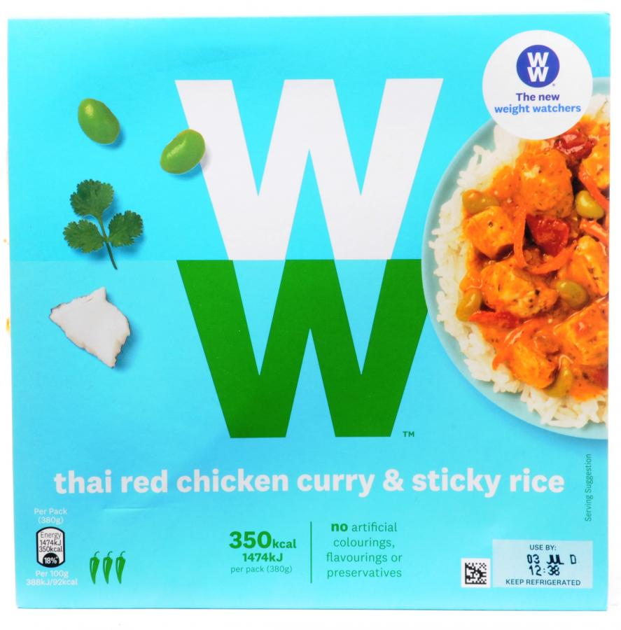 Dike Son Weight Watchers Thai Red Chicken Curry And