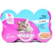 Whiskas Fish in Jelly Assorted Cans