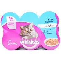 Whiskas Fish in Jelly Assorted Cans image