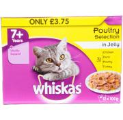 Whiskas 7+ Poultry Selection in Jelly