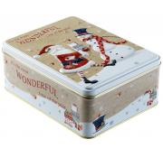 Farmhouse Biscuits Santa Rectangular Tin with Spiced Ginger Biscuits
