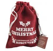 Farmhouse Biscuits Merry Christmas Hessian Bag with Orange and Chocolate Chip Biscuits