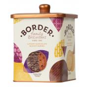 Border Luxury Chocolate Biscuit Selection in Barrel Tin