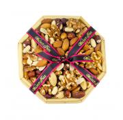 Walnut Tree Octagonal Reed Tray filled with Nuts