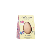 Buttermilk Strawberry Bellin Egg Filled with Fudge