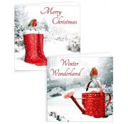 Gift Maker Traditional Robin Cards Square