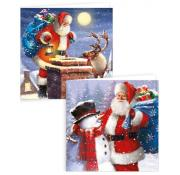 Gift Maker Traditional Santa Square Cards