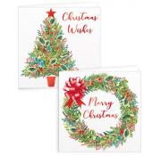 Gift Maker Tree and Wreath Square Cards