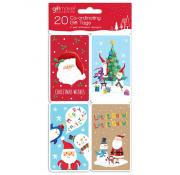 Gift Maker Santa and Friends Gift Tags