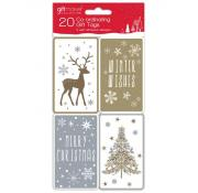 Gift Maker Gold and Cream Metalic Gift Tags