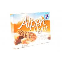 Alpen Light Chocolate and Fudge Cereal Bars image