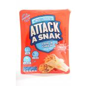 Attack a Snack Ham and Cheese Wraps with Ketchup