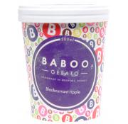 Baboo Gelato Blackcurrant Ripple Ice Cream