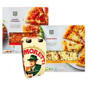 1 BIG DEAL! TWO CHILLED PIZZA'S AND MORETTI 4 PACK FOR JUST £5!