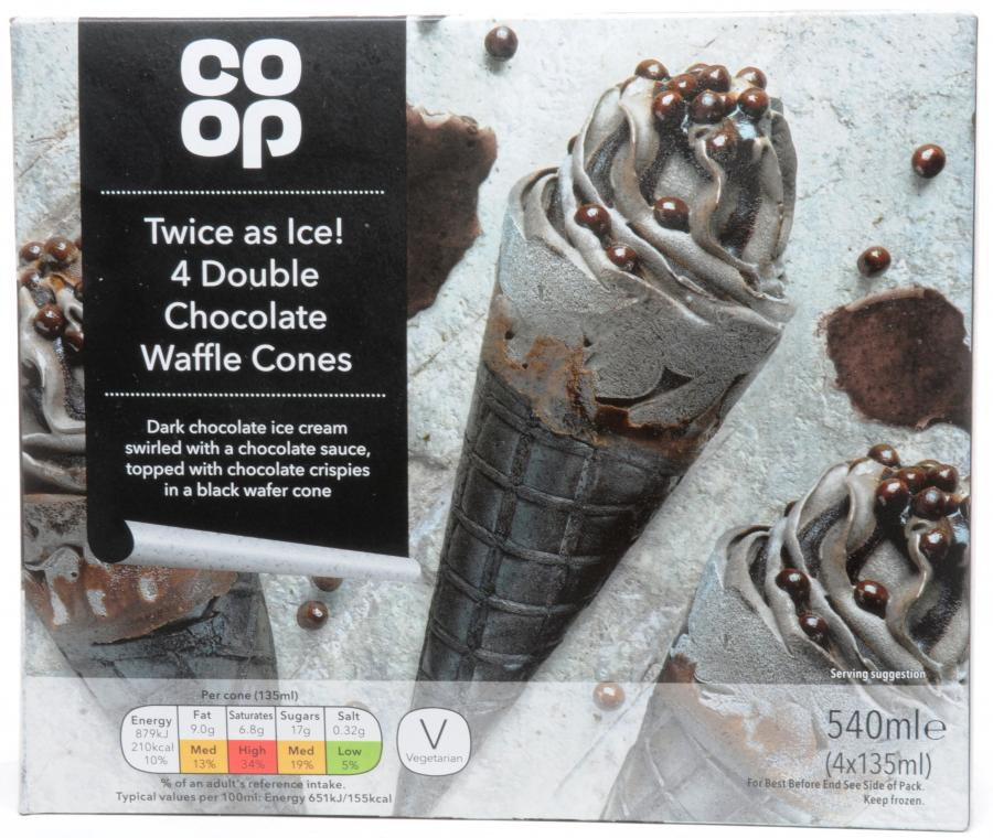 Dike Son Co Op Double Chocolate Waffle Cones