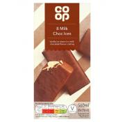 Co Op 8 Milk Choc Ices