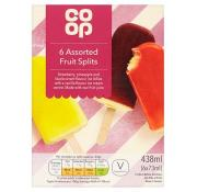 Co Op Assorted Fruit Ice Cream Splits