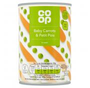 Co Op Baby Carrots and Petit Pois