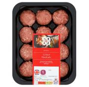 Co Op British 12 Beef Meatballs