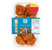 Co Op Breaded Scampi