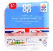 Co Op Thin Sliced Cooked Ham