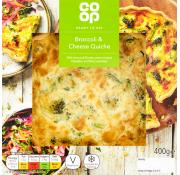 Co Op Broccoli and Cheese Quiche
