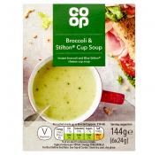 Co Op Broccoli and Stilton Cup Soup