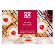 Co Op 6 Cherry Bakewell Tarts