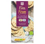 Co Op Free From Gluten Free Salt and Black Pepper Crackers