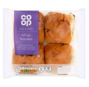 Co Op Fruited Teacakes