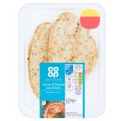 Co Op Lemon and Pepper Sole Fillets