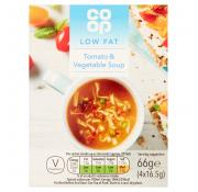 Co Op Low Fat Tomato and Vegetable Cup Soup