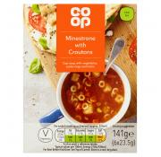 Co Op Minestrone with Croutons Cup Soup