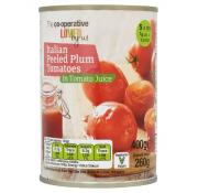 Co Op Peeled Plum Tomatoes In Tomato Juice