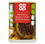 Co Op Red Kidney Beans in a Chilli and Tomato Sauce