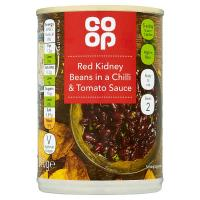 Co Op Red Kidney Beans in a Chilli and Tomato Sauce image