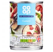 Co Op Reduced Fat Custard